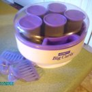Conair Large Hot Rollers w/Velvet Covers Nice Condition - BIG Curles