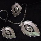 Book Piece Sarah Coventry Leaf NECKLACE & EARRINGS unused
