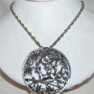 Book Piece Sarah Coventry Deer Necklace on Chain Silver VERY Collectible