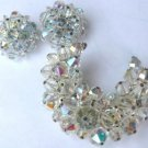 Vintage Laguna earrings and crystal moon brooch Appear Unworn