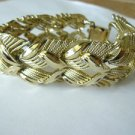 Vintage CORO BRACELET Wide GOLD and Decorative Design Collectible