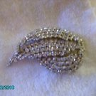 Vintage Signed MADE IN West Germany Crystal Clear Rhinestone Brooch Pin