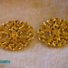Vintage Gold Designed  Shoe Clips Very Nice