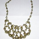 AVON NUGGET BIB NECKLACE BURNISHED BRASS