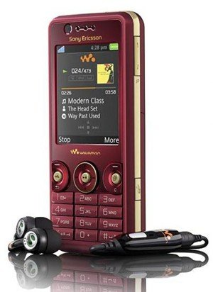 Sony Ericsson W660i Red Unlocked Tri Band GSM Cell Phone