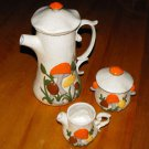 Vintage Arnels Ceramic Kit (Pitcher, Creamer Pitcher, & Sugar Bowl)