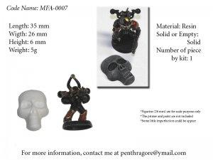 Skull Face - (Bits for WARHAMMER 40K Mordheim Pulp) - MFA-0007