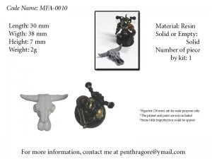 Animal Skull - (Bits for WARGAME) - MFA-0010