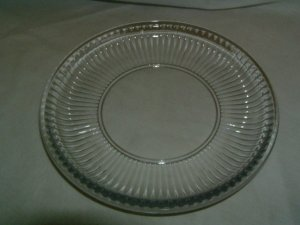 "Depression Glass 8"" Clear Luncheon or Salad Plate"