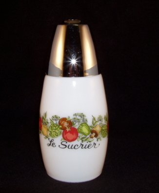 1970's Corning Corelle Gemco Spice of Life Sugar Shaker
