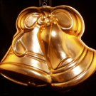 Wedding Bells or Christmas Bells Bell Jello or Cake Mold Copper Color Pink Aluminum