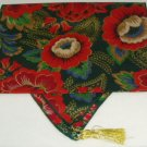 """Christmas Table Runner Red & Green Floral 52"""""""