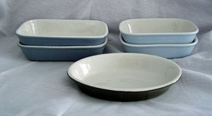 Hall Pottery Individual Casserole Casseroles #420 #421 #702 Set of 5