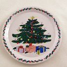 Christmas Tree Coasters or Kids Plates Set of 8 Painted Aluminum