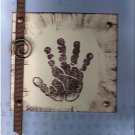 Baby Handprint in Blue and Chocolate Chip