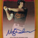 2012 Bowman Chrome Gold Refractor AUTO Nick Delmonico #1/50 BALTIMORE ORIOLES
