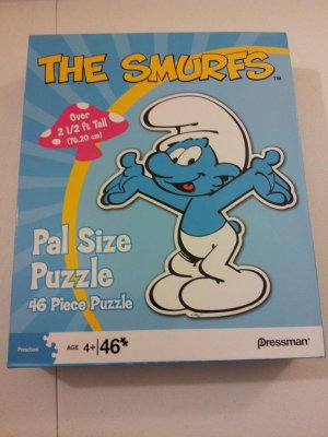 The Smurfs Pal Size Puzzle! 2 1/2 feet tall!!