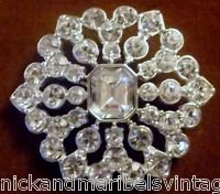 "Vintage ladies brooch Monet 2"" rhinestone"