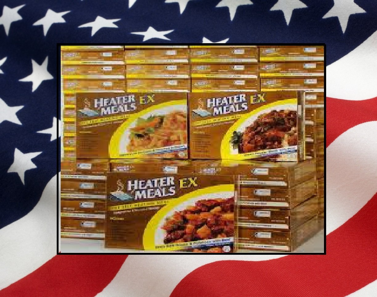 MRE Style HEATERMEAL EX -Assorted Emergency Preparedness Survival Food Lot-4 case of 12- 48 Meals!