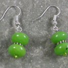 Green Jade STERLING SILVER EARRINGS
