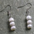 Fresh Water White Pearl STERLING SILVER EARRINGS