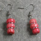 Pink Coral STERLING SILVER EARRINGS