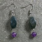 Jasper Purple Jade STERLING SILVER EARRINGS