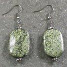 Green Lace Stone Sterling Silver Earrings