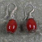 Red Agate Sterling Silver Earrings
