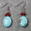 Breciated Jasper Turquoise Sterling Silver Earrings