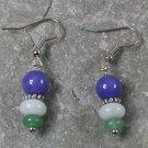 Jade Amazonite Sterling Silver Earrings