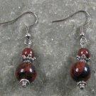 Mahogany Obsidian Sterling Silver Earrings