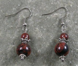 Mahogany Obsidian Sterling Silver Earrings