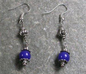 Blue Jade Sterling Silver Earrings