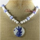 MING DYNASTY POTTERY SHARD JADE LAMPWORK NECKLACE