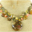 TIGER QUARTZ & TIGER EYE & CRYSTAL & PEARL NECKLACE