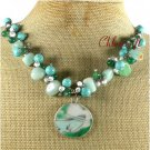 POTTERY SHARD AMAZONITE TURQUOISE NECKLACE