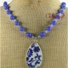 POTTERY SHARD BLUE JADE NECKLACE