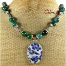 POTTERY SHARD AFRICAN TURQUOISE NECKLACE
