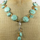 TURQUOISE & FRESH WATER PEARLS NECKLACE