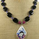 POTTERY SHARD AGATE JADE NECKLACE