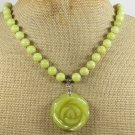 OLIVE JADE ROSE NECKLACE