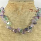 NATURAL RAINBOW FLUORITE NECKLACE