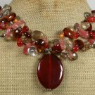 RED CARNELIAN CRYSTAL QUARTZ NECKLACE