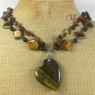 TIGER EYE & BLACK AGATE 2ROW NECKLACE