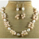 FRESH WATER PEARL NECKLACE/EARRINGS SET