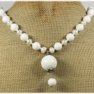 120815 WHITE CORAL & FRESH WATER PEARLS NECKLACE