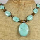 TURQUOISE & TIGER EYE NECKLACE