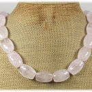 NATURAL ROSE QUARTZ HAND KNOT NECKLACE