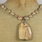 NATURAL PICTURE JASPER NECKLACE